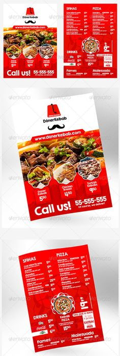 Restaurant Brochure  Brochure Food    Brochures Flyer
