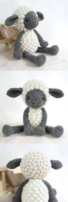 DIY Giant Knit Bobble Sheep Pillow *Free Pattern*This knit bobble ...