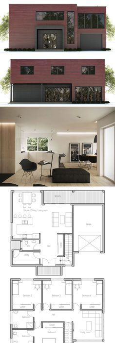 Minimalist House Design Dream house Pinterest Minimalist house - Plan De Maison Originale
