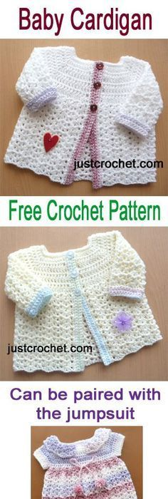 Adorable baby dress and bolero, free crochet pattern. #crochet ...