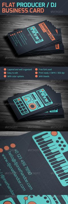 Mobile Digital DJ Business Card Dj Business Cards Dj And - Free dj business card template