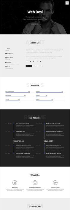 PortMe - CV  Resume Template Cv resume template