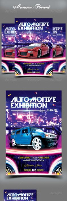 Classic Car Show Flyer 4 Flyer Template Font Logo And Template