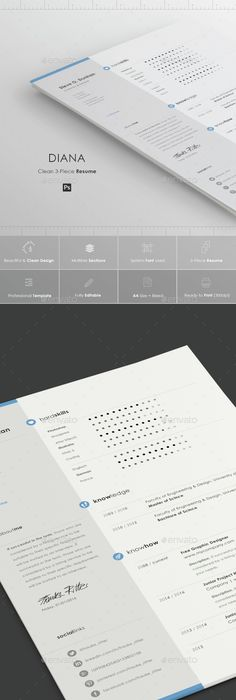 Clean Infographic Resume   Infographic resume, Ai illustrator and ...