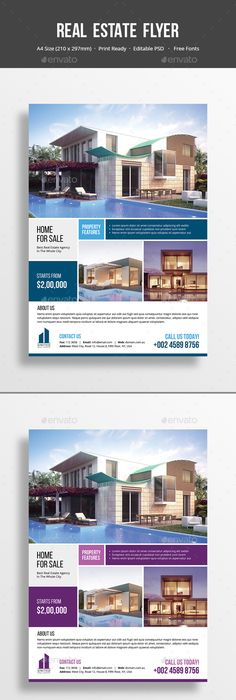 Real State Property Flyer Template Psd Design Download Http