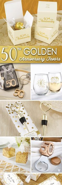 Golden 50th Wedding Anniversary | Anniversary parties, Anniversaries ...