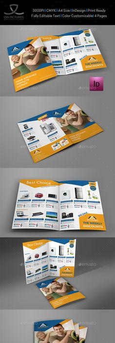 Supermarket Products Catalog Brochure Template  Brochure Template