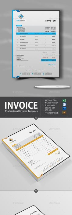 Invoice Template, Proposal templates and Adobe indesign