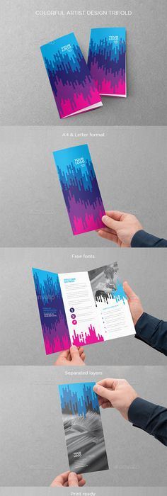 Square TriFold Brochure Template  Brochure  Flyer Designs