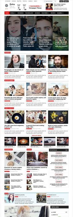 Nettoday Newspaper Magazine Joomla Template Newspaper
