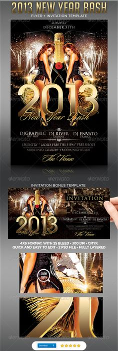 All Black Everything Party Flyer Template  Party Flyer Flyer