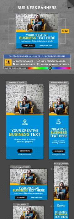 Business consulting banners banners banner template and web banners flashek Choice Image