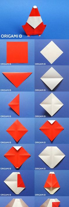 Christmas Origami Santa Claus Easy Origami How To Make An Easy