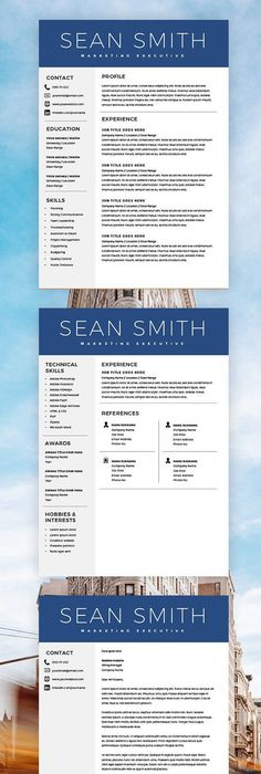 One Page Resume Template Free Download  Paru    Resume