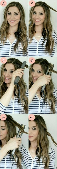 Curl Hair with Flat Iron, Curling with Straightener Hacks How To ...