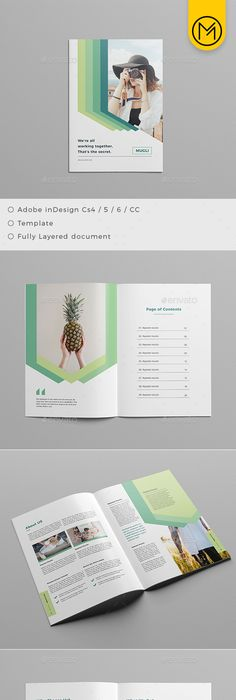 Clean & Professional Case Study Booklet Template InDesign INDD - 16 ...