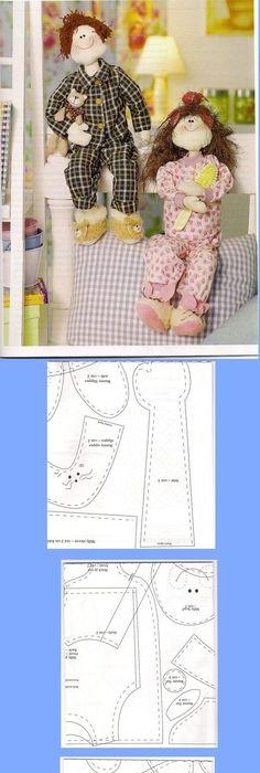 MATERIAL: 30 cm de algodão cru - 30 cm de tecido estampado (corpo e ...