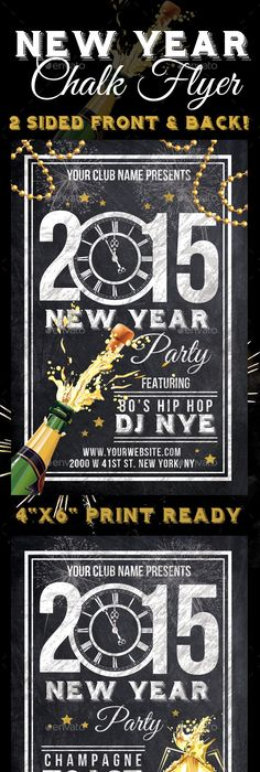 Vintage Christmas & New Year Party Poster | Party poster, Flyer ...