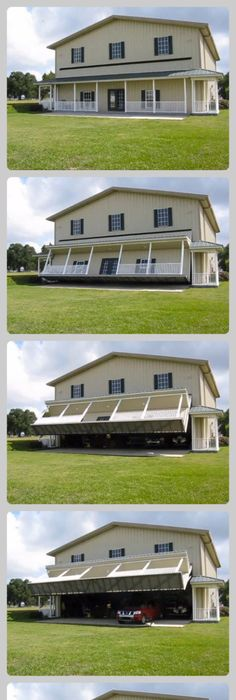 This disappearing garage lowers into the ground and becomes