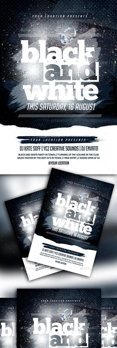 Black And White Party Flyer Template  Party Flyer Black Party
