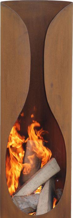 Feuerstelle Rustik #rost #rostlook #garten #gartendeko #sommer