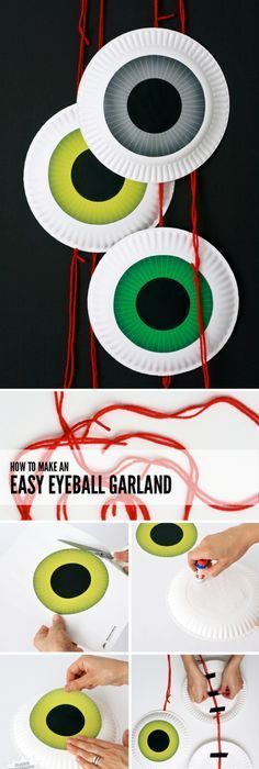 Create this fun UpCycled Wreath for your Halloween Decor - how to make homemade halloween decorations