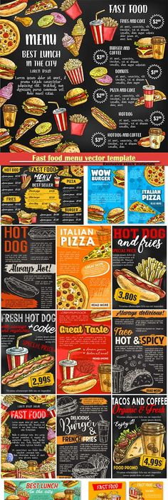 Food label vector vintage collection Graphics\design for WEB - fresh invitation template vector