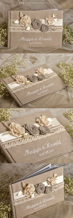 guest books make your own and incorporate calendar pages for guests ...