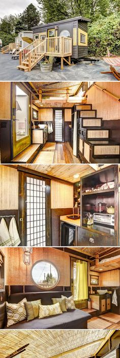agreeable tiny house portland oregon. The Bamboo  a 150 sq ft Asian insird tiny house yu can rent at the Tiny Digs Portland Hotel japanese style by oregon cottage company 02 Your Own