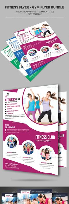 Gym  Fitness Flyer Print Ad  Flyer Printing Gym Fitness And Gym