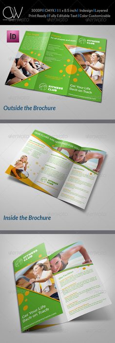 Fitness Brochure TriFold  Tri Fold Corporate Brochure And Brochures