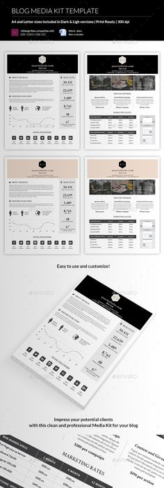 blog media kit template by madridnyc a blog media kit is a document that outlines the