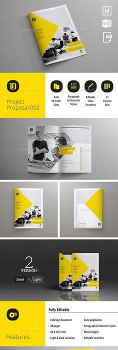 Profesional Proposal Template #annualreport #booklet #brochuredesign