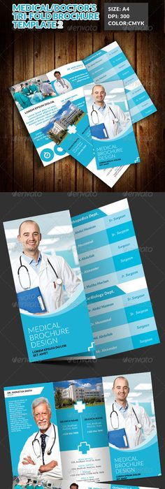 Medical Trifold Brochure  Font Arial Adobe Photoshop And Brochures