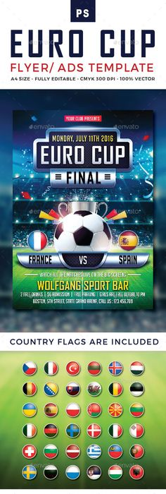 Soccer Tournament Psd Flyer Template  Only Available Here  Http