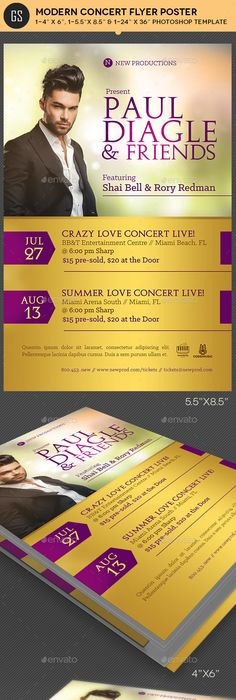 Gospel Pop Artist Concert Flyer Poster Template  Concert Flyer