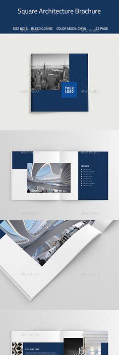 SQUARE ARCHITECTURE BROCHURE TEMPLATE - Catalogs Brochures Share - architecture brochure template