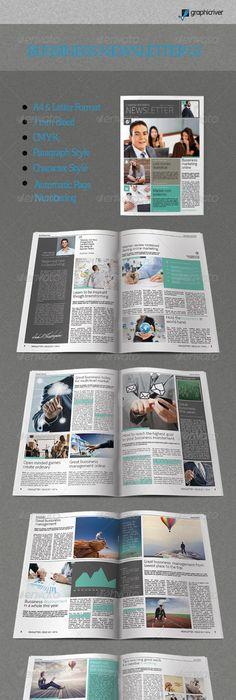 Modern Business Newsletter Template A  Newsletter Templates A