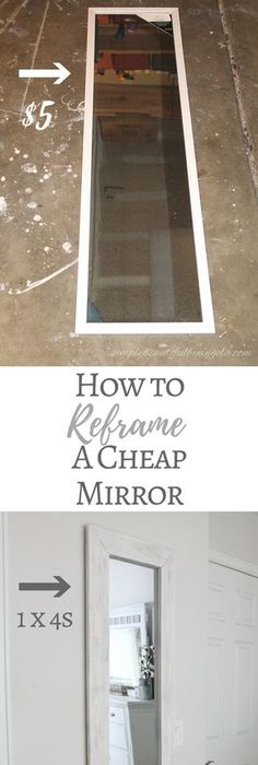 How to reframe a cheap mirror diy decorations
