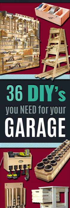 DIY Woodworking Projects Your Garage Needs  Do It Yourself DIY Garage  Makeover Ideas Include Storage. Einfache  HeimwerkerprojekteNagelpilzPaletten ...