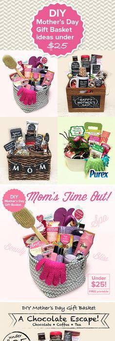 Do it yourself gift basket ideas for any and all occasions basket diy mothers day gift basket ideas under 25 solutioingenieria Choice Image