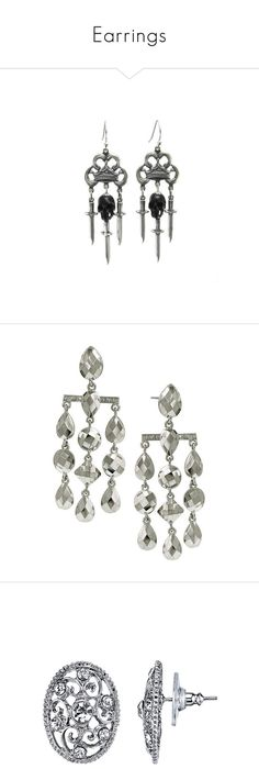 Earrings By Daniellehope1022 Liked On Polyvore Featuring Jewelry Skull