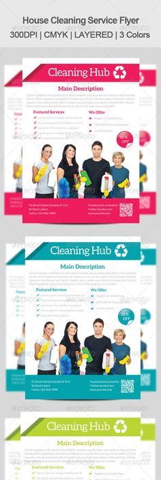 Cleaning Service Flyer Template  House Cleaning Flyer Template