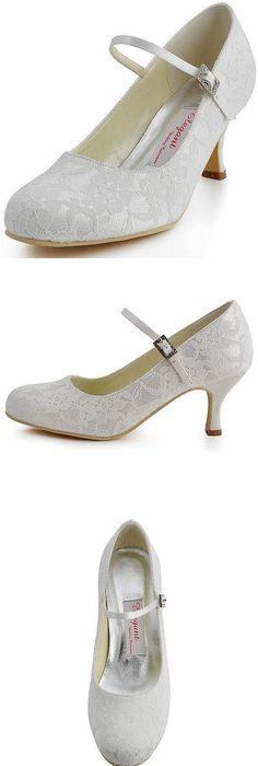 668bd4da63b7 ElegantPark EP11034-IP Women Pumps Closed Toe High Heel Platform Bows  Rhinestones Evening Wedding Shoes White US 8