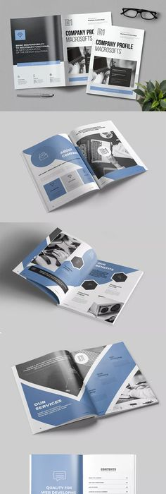 Company Profile Template InDesign INDD - A4 and US Letter Size ...