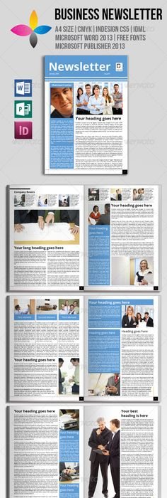 Newsletter Template Newsletter Templates Print Templates And Template