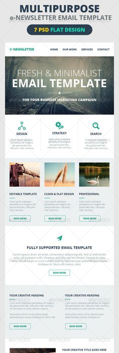 Fresh Modern Design  ENewsletter Template Design Handcoded