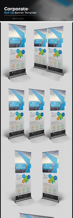 Corporate Roll-up Banner | Banner template, Banners and Ai illustrator