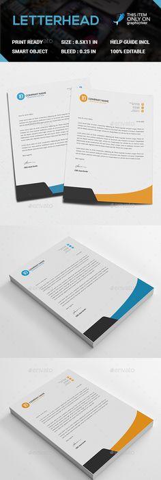 Blue Corporate Letterhead Design Free Psd File  Letterheads