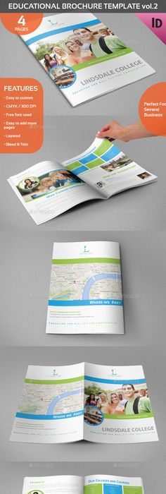 Kindergarten Brochure Template Educational Brochure Template Vol